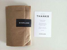 Everlane Garment Packaging Design