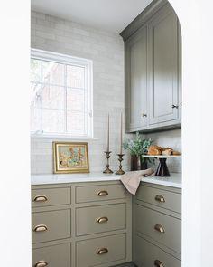 Kitchen Redo, New Kitchen, Kitchen Remodel, Kitchen Design, Kitchen Pantry, Nancy Kitchen, Kitchen Ideas, Green Kitchen, Home Luxury