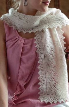 Knitting Pattern for Reversible Koloski Lace Scarf
