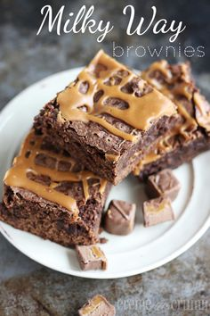 milky-way-brownies , so Milky ways are my absolute fav candy bar, then add the brownie aspect...I am drooling!!!