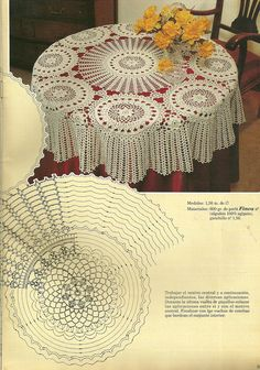 "Photo from album ""скатерти,салфетки"" on Yandex. Diy Crafts Crochet, Crochet Art, Crochet Home, Crochet Motif, Crochet Designs, Crochet Projects, Crochet Tablecloth Pattern, Crochet Bedspread, Crochet Diagram"