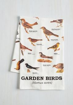 Bird Swatching Tea Towel. Zoom in for a closer look at this delightful tea towel. #multi #modcloth