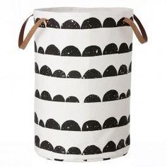 Ferm Living Half Moon Large Storage Basket - Black
