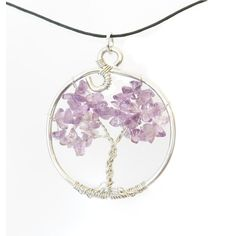Natural Amethyst Tree of Life Pendant by SweetfireCreations #amethyst #treeoflife