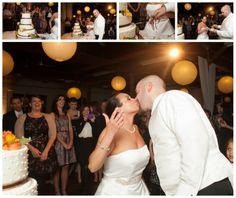 Gina and Jared sharing a cake kiss!