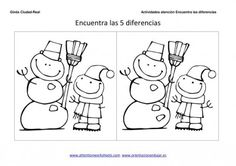Crafts,Actvities and Worksheets for Preschool,Toddler and Kindergarten.Lots of worksheets and coloring pages. Find The Difference Pictures, Hidden Pictures, Winter Pictures, Exercise For Kids, S Stories, Different, Fun Activities, Worksheets, Coloring Pages