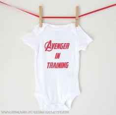 Superhero Avenger in Training Onesie