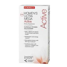 GNC Women's Ultra Mega® Active 90 Caplets. Appropriate nutrition is essential to achieving optimal health and athletic performance. However, workouts can deplete the body of important nutrients, particularly minerals and water-soluble vitamins.  For this reason, proper nutrition during training is one of the key factors to success. Accordingly, GNC offers Women's Ultra Mega® Active, a premium multivitamin for women who workout regularly.
