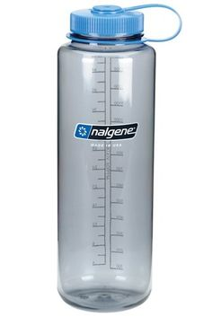 The same profile as Nalgene's 32 ounce wide mouth bottle so it will fit in your pack side pocket but lets you carry more water....