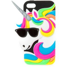 Neon Unicorn Phone Case - iPhone 5C, all, Phone & iPod Cases, Phone &... (205 MXN) ❤ liked on Polyvore featuring accessories and tech accessories