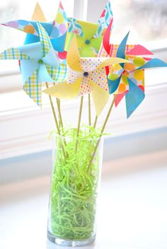 Spring Pinwheel Bouquet Primary by JulesandTwo on Etsy