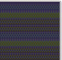 Hand Weaving Draft: Indian carpet, Denise Béland Ste-Étienne Qc, 4S, 6T - Handweaving.net Hand Weaving and Draft Archive
