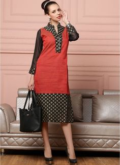 Shop Online Red Cotton #Kurtis @Chennaistore.com