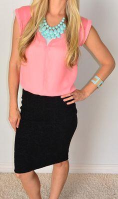 | SexyModest Boutique black lace skirt