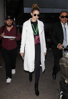 Gigi Hadid's Airport style