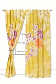 Spiral Vine Curtain @ Anthropologie.  Prices vary according to size.
