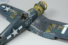 """PARK Corsair """"white in detail and scale By Marek Vrzák - GModel Art Ww2 Aircraft, Military Aircraft, Voitures Hot Wheels, Weather Models, F4u Corsair, Weathered Paint, Modeling Techniques, Paint Effects, Aviation Art"""