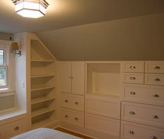 Master Bedroom - built-in wardrobes will create loads of extra space #AtticConversionIdeas