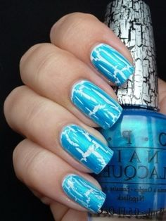 106 Best Crackle Nails Images On Pinterest Cute Nails Pretty