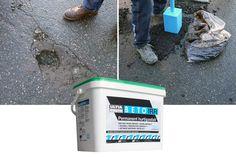 Med BETO IRR reparerer du asfalthullet på ti minutter.