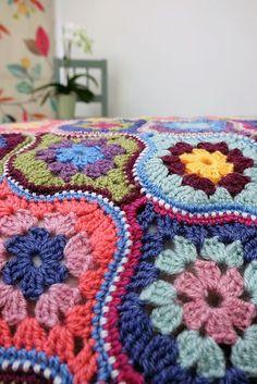Mystical Lanterns Blanket Crochet Kit and Pattern in Stylecraft Yarn Motifs Afghans, Crochet Motifs, Crochet Blocks, Crochet Squares, Crochet Blanket Patterns, Crochet Stitches, Granny Squares, Crochet Afghans, Crochet Home