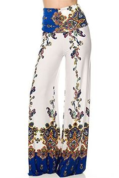 High Waist Wide Leg Gaucho Boho Print Palazzo Pants * Click here for more details @ http://www.amazon.com/gp/product/B00LYPUUNC/?tag=ilikeboutique09-20&ij=240716090157