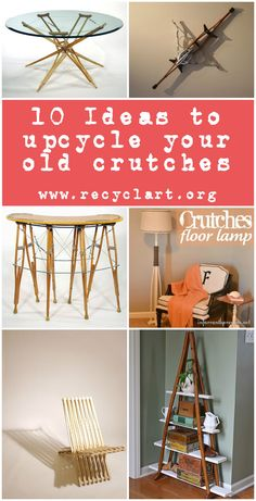 We already presented some interesting projects using old crutches to transform them into new things. Here are ten ideas of crutches upcycling projects! Upc