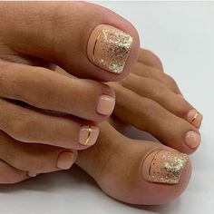 Fall Toe Nails, Pretty Toe Nails, Cute Toe Nails, Summer Toe Nails, Pretty Toes, Pedicure Designs, Manicure E Pedicure, Pedicure Ideas, Fall Toe Nail Designs