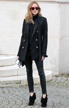 Olivia Palermo wears the Reiss Lavinnia Blazer