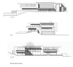 Casa OZ fachada contemporánea con madera caoba / arquitecto Swatt Miers