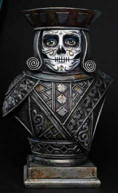 Day of the Dead style Jack of Diamonds