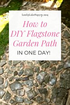 How to DIY a Flagstone Garden Path in One Day! | Installing a garden path is easier than you think! Pin now, plan this weekend!   #diy #garden