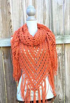 Crochet Pattern Shawl Pattern Triangle Scarf by CandacesCloset