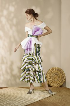 Andrés Otálora Resort 2019 - Discover the Collection Here! Fabulous Dresses, Elegant Dresses, Gingham, Ready To Wear, Artsy, Stripes, Boho, My Style, Skirts