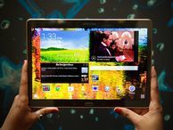 Samsung Galaxy Tab S is a movie-buff's best bet (pictures) The 10.5-inch Samsung tablet features a vibrant super-AMOLED screen and one of the sleekest designs around.