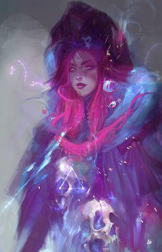 Skulls Witch, Raquel Cornejo on ArtStation at https://www.artstation.com/artwork/XPROD
