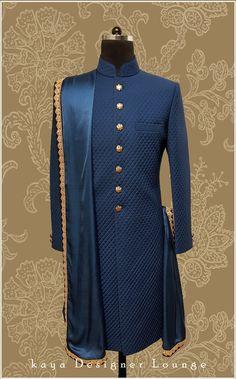 Sherwani For Men Wedding, Wedding Dresses Men Indian, Wedding Outfits For Groom, Sherwani Groom, Groom Wedding Dress, Indian Dresses, Mens Indian Wear, Mens Ethnic Wear, Nigerian Men Fashion