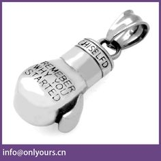 custom jewelry stainless steel engrave boxing glove set charms pendant necklace