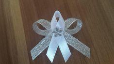 Svadobné pierko strieborná + biela