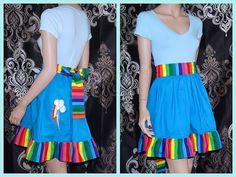 My Little Pony Rainbow Dash Summer Dress Cosplay Costume Adult Medium - Large MTCoffinz- Ready to Ship Purim Costumes, Adult Costumes, Cosplay Costumes, My Little Pony Dress, My Little Pony Costume, Rainbow Dash Party, Raimbow Dash, My Little Pony Collection, Mlp
