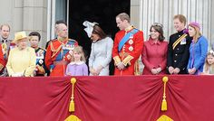 """Kate Middleton and Princess Eugenie Photo - Queen Elizabeth II and Duke of Edinburgh at the """"Trooping the Colour"""" birthday celebrations in London with aerial perfomance"""