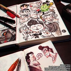 Sketching At The Coffee Shop by eduardovieira on DeviantArt