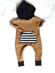 Hoodie Jumpsuit   Babies By Bee