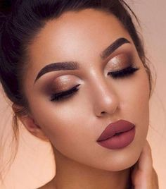 45 Stunning 2019 Makeup Trends Perfect For Prom Night - Page 2 Of . 45 Stunning 2019 Makeup Trends Perfect For Prom Night - Page 2 of makeup trends for prom 2019 - Makeup Trends 2019 Wedding Makeup For Brown Eyes, Natural Wedding Makeup, Natural Makeup, Natural Beauty, Makeup Trends, Makeup Tips, Beauty Makeup, Makeup Ideas, Beauty Tips