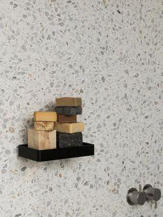 Shower Tray by Norm Architects for Menu Terrazo, Casa Patio, Outdoor Baths, Minimalist Bathroom, Burke Decor, Black Marble, Bathroom Interior Design, Interior Modern, Kitchen Interior