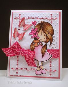 Wryn-Grow It With Love from Tiddly Inks stamps
