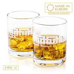 Etched Whiskey Glasses OLO | Made in Europe | Set of 2 Whiskey Decanter, Whiskey Glasses, Liquor Storage, Scotch Whiskey, New Flavour, Shot Glass, How To Make, Gifts, Europe