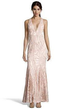 CARTER Sequin Gown With V Neck from Jay Godfrey