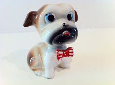 Vintage Pug 50's Kitsch Animal Ornament by rebeccaheartsvintage, £13.00