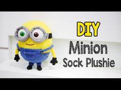 DIY Minion Bob Sock Plushie Tutorial (Free Pattern) - YouTube
